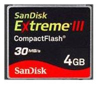 SanDisk 4GB Extreme III CompactFlash ()