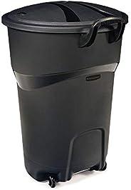 Rubbermaid Roughneck - Bote de basura de 121litros negro, con ruedas y tapa