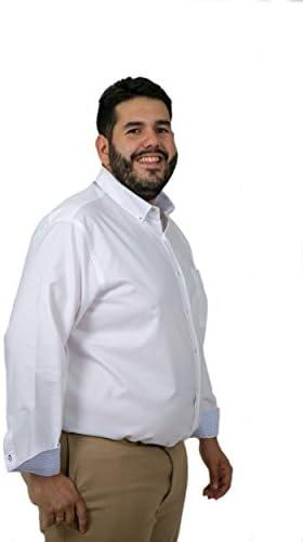 Camisas Hombre Tallas Grandes Lisas Manga Larga, Varios Modelos y Tallas, Camisas de algodón, 21H: Amazon.es: Ropa y accesorios
