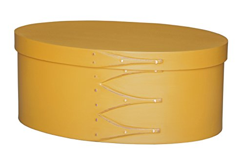 (No. 5 Painted Shaker Oval Box - Yellow)