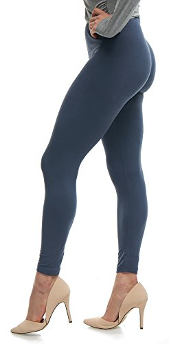 Lush Moda Extra Soft Leggings - Variety of Colors - Charcoal