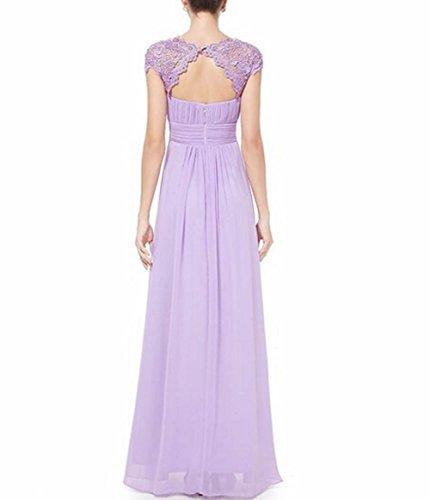 offener Schönheit Rücken Gerüscht Leader Hellviolett der Brustumfang Violett Damen Abendkleid qSfwnZxTt
