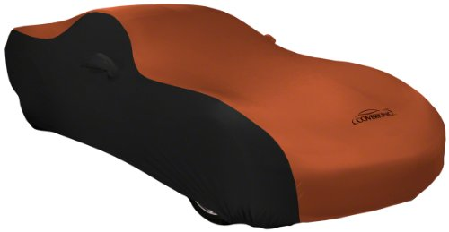 Coverking Custom Fit Car Cover for Select Studebaker Pickup Models - Satin Stretch (Rust Orange with Black Sides)