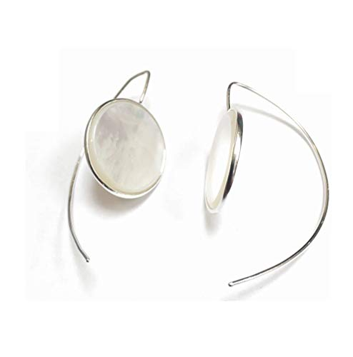 925 Solid Sterling Silver Threader Drop Dangling Pierced Ear Wire Earrings in Pearl or Red Coral