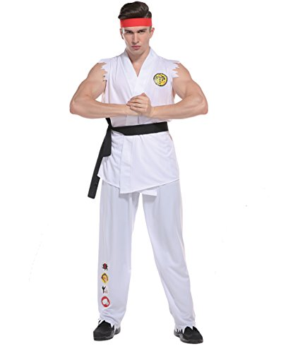 Ryu Costume Fighter Street (Men's Street Karate Man Costume , Kung Fu Fighter , Adult , Costume, One Size)
