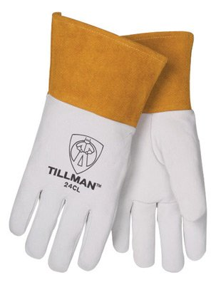 Tillman 24DL Large Pearl Top Grain Kidskin Unlined Premium Grade TIG Welders Gloves With Straight Thumb, 2