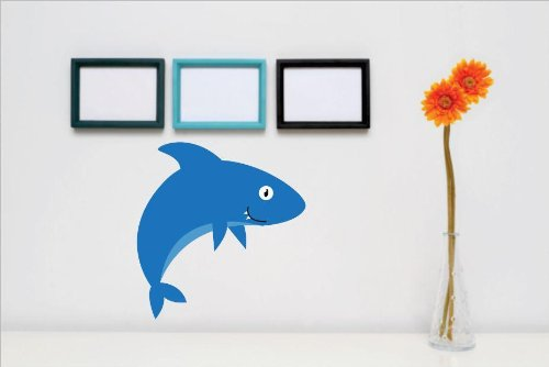- Vinyl Wall Decal Sticker : Shark Water Ocean Sea Animal Kids Children Boy Girl Bedroom Bathroom Living Room Picture Art Peel & Stick Mural - Discounted Sale Price Size: : 12 Inches X 12 Inches - 22 Colors Available