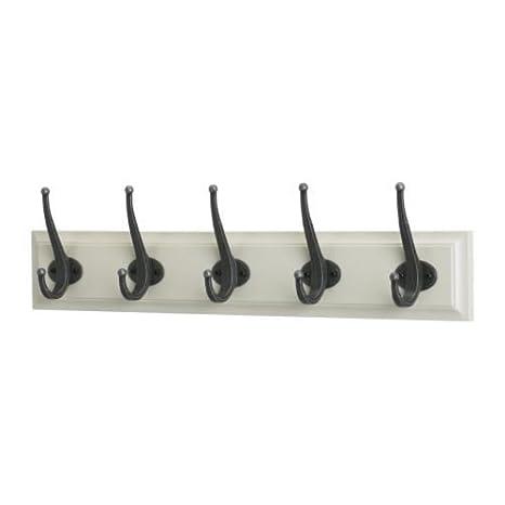 Ikea LEKSVIK - Estante con 5 Ganchos, Blanco: Amazon.es: Hogar