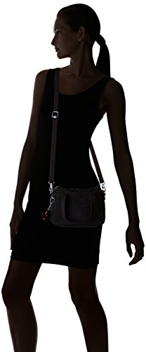 x x 24 P 12 A x Mujer Kipling cm Black para de hombro x 18 Gris A Bolso Emoli wq8zCP