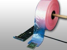 Elkay Plastics T4-04040 4 mil Pink Anti-Static Poly Tubing, 4'' x 1075', Pink by Elkay Plastics