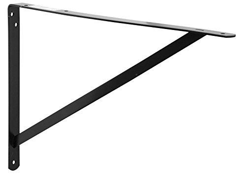 Decko 49152 Heavy Duty Shelf Bracket, 19.25-Inch by 12.50-Inch, Black, 10-Pack by Decko (Image #4)
