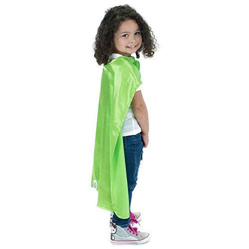 Everfan Lime Green Polyester Satin Superhero Cape - Kids