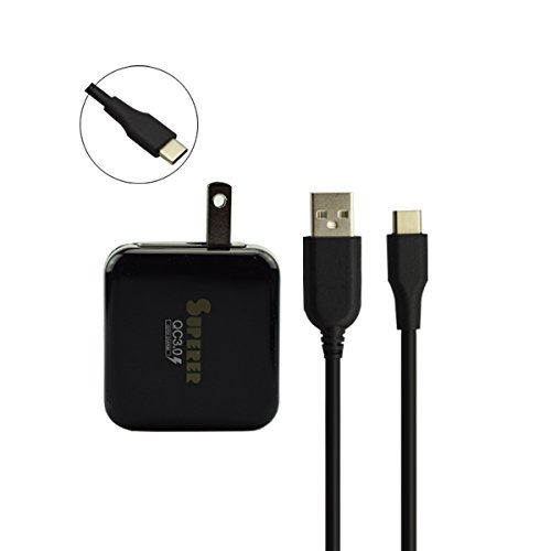 (Quick 3.0 Travel Wall AC Charger for ZTE Axon 7 Mini A7S Phone with 5ft Power Supply Adapter)