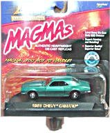 Johnny Lightning - Limited Edition Magmas - 1968 Chevy Camaro - 1:43 Scale Classic Collector Car Replica. Tuquoise (Green/Blue) Body -