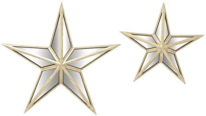Deco 79 18198 Alluring Metal Mirror Wall Star