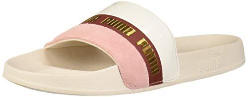 PUMA Leadcat Slide Sandal, Pastel Parchment-Bridal Rose, 11 M US