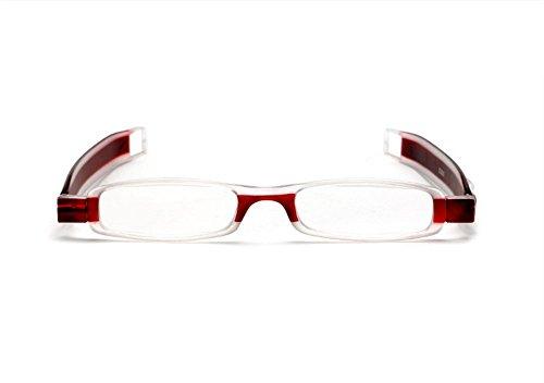 Hosaire 1X Rosso Comodo Occhiali da Lettura Stile Designer Uomo Donna +2.00