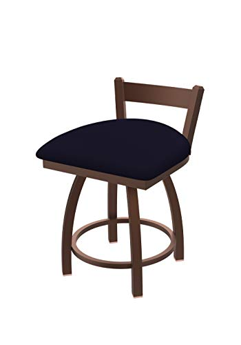 Holland Bar Stool Co. 82118BZ002 821 Catalina Low Back Swivel Vanity Bar Stool, Canter - Stool Bar Leather Trica