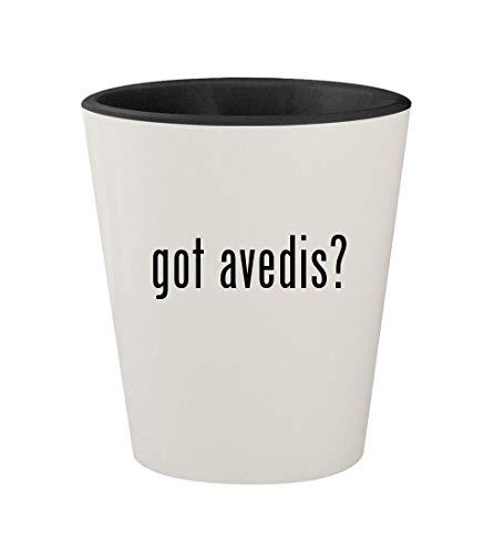 got avedis? - Ceramic White Outer & Black Inner 1.5oz Shot Glass