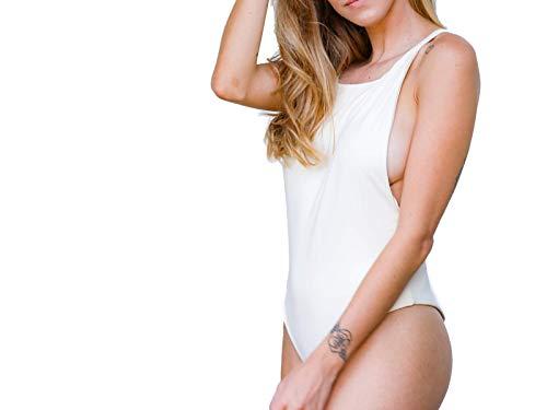 Maiô One-Piece Body Domi Side-Boob Off White G