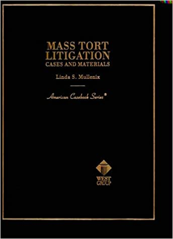Read Mass Tort Litigation: Cases and Materials (American Casebook Series) PDF, azw (Kindle), ePub, doc, mobi