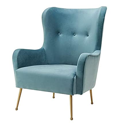 Amazon.com: Hebel Ethan Green Velvet Chair | Model CCNTCHR ...