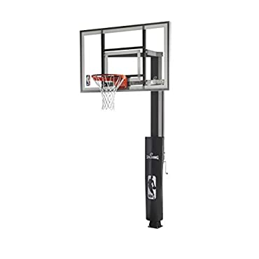 Spalding In-Ground Basketball System with Glass Backboard, 60 x 38