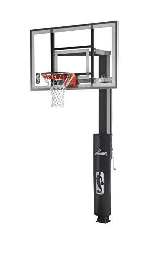 Spalding In-Ground Basketball System with Glass Backboard, 60 x 38-Inch