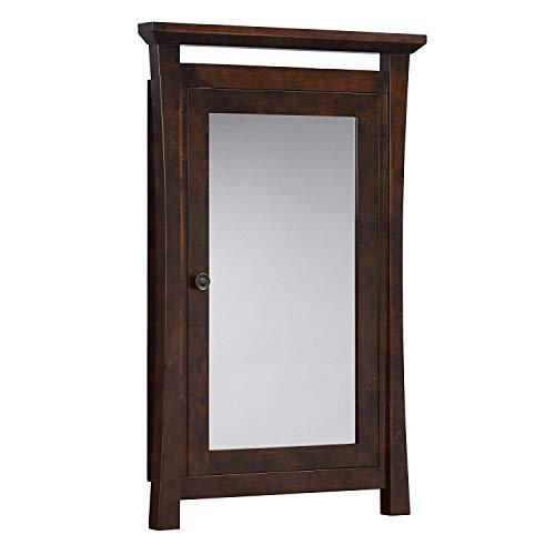 Ronbow 616025-F07 Pacific Rim Solid Wood Framed Medicine Cabinet, Vintage Walnut