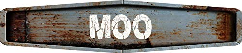 Any and All Graphics MOO Rustic Weathered Metal Look Diamond Shaped 4