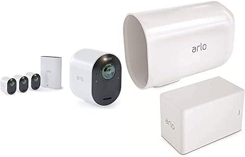 4 Caméras Ultra 4K Hdr Avec Station D'Acceuil et Batterie Additionnelle Et...