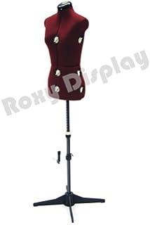 Amazon.com: SINGER 12-Dial Adjustable Dress Form, Large Red