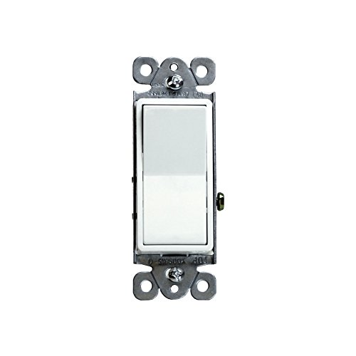 Focuslife Decorator 15A Switch 3-Way Lighted Illuminated Rocker Switch Light Control White -