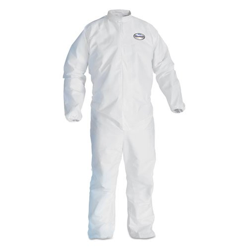KleenGuard KCC46104 A30 Elastic-Back & Cuff Coveralls, White, X-Large, 25/case