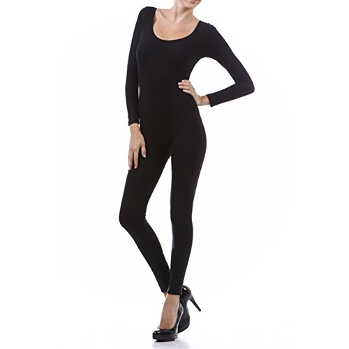 - 31JC9 E ZYL - Long Sleeve Spandex Catsuit Bodysuit