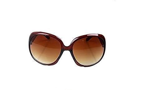 Da.Wa Gafas de Sol Reflectantes Gafas de Sol Polarizadas Gafas de Sol de de Protección UV para Mujer,Marrón