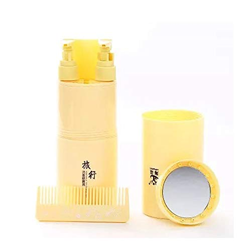 Travel Wash Cup Toothbrush Box Portable Storage Empty Bottle Travel Goods Travel Care Set (Color : Yellow)