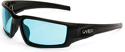 Uvex Hypershock Safety Glasses Black Frame SCT Blue Hydroshield Anti-Fog Lens