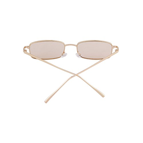 ADEWU Frame Men Champagne Women Lens Gold Sunglasses Retro Fashion for Glasses Square TTq1PrR