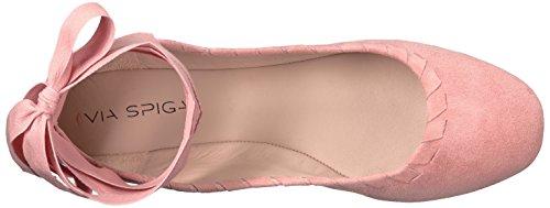Suede Spiga Via Salmon Ballet Women's Baylie Flat aSYqrYwd