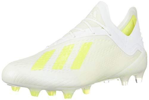 adidas Men's X 18.1 FG (8.5, White/Solar Yellow)