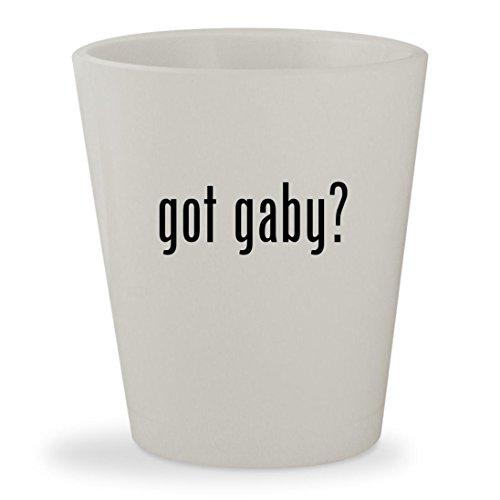 got gaby? - White Ceramic 1.5oz Shot Glass