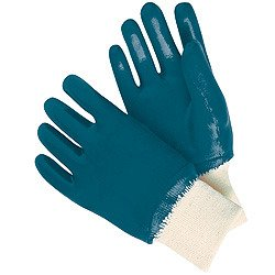 (12 Pair) Memphis 97951L Predator Nitrile, Fully Coated, Knit Wrist, Size Large