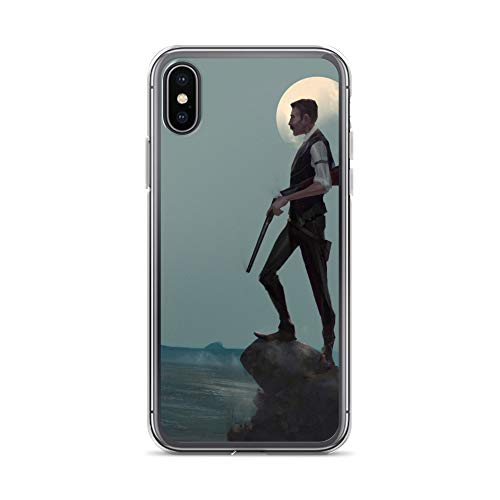 iPhone X/XS Case Anti-Scratch Creature Animal Transparent Cases Cover The Hunt Animals Fauna Crystal Clear