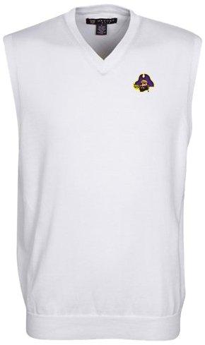 Carolina Oxford (Oxford NCAA East Carolina Pirates Men's Bristol Sweater Vest (White, Medium))