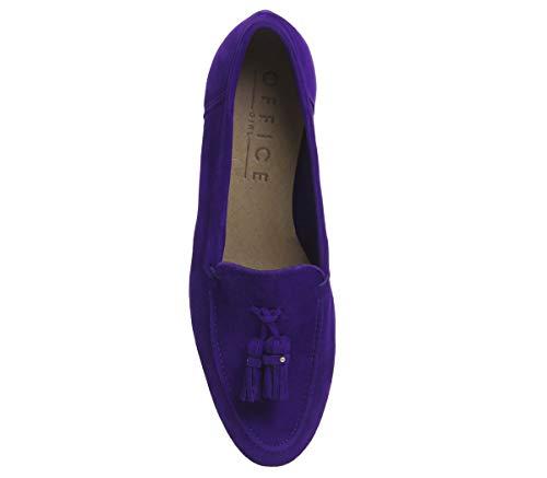 Loafers Suede Women''s Office Retro Purple 1wpOvqC