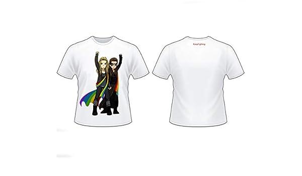TJZY LGBT Camiseta Algodón Peinado Retro Etiqueta Personalizado Gráfico Tee Rutina de Ejercicio Bloque de Color Guay/blanco/Xl: Amazon.es: Bricolaje y herramientas