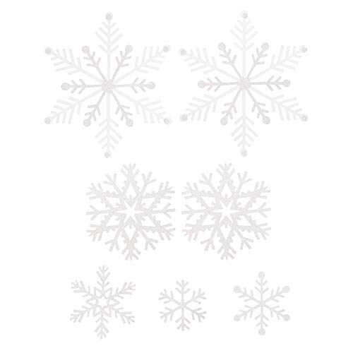 Martha Stewart 30068370 Die Cut Vellum Snowflakes Holiday Décor, White
