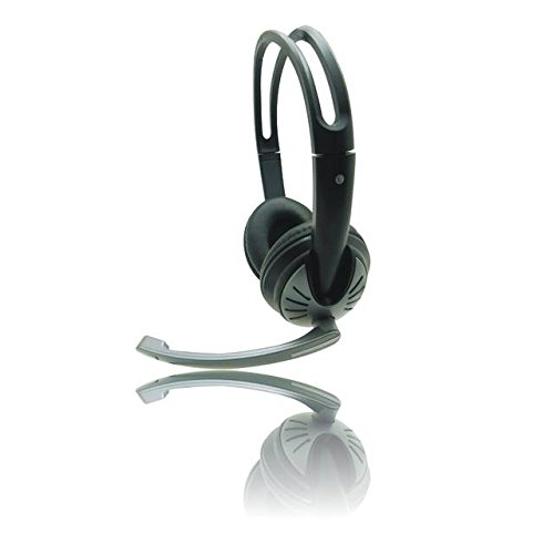 iMicro IMME282 USB Dual Headset with Adjustable Microphone Noise Cancelling and Volume Control, Wired Headphone for PC, -