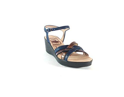 Hispanitas–Keil Sandale Streifen Stahl